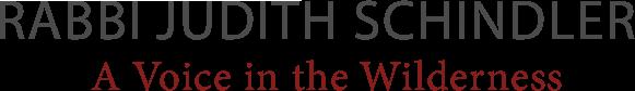 Rabbi Judith Schindler